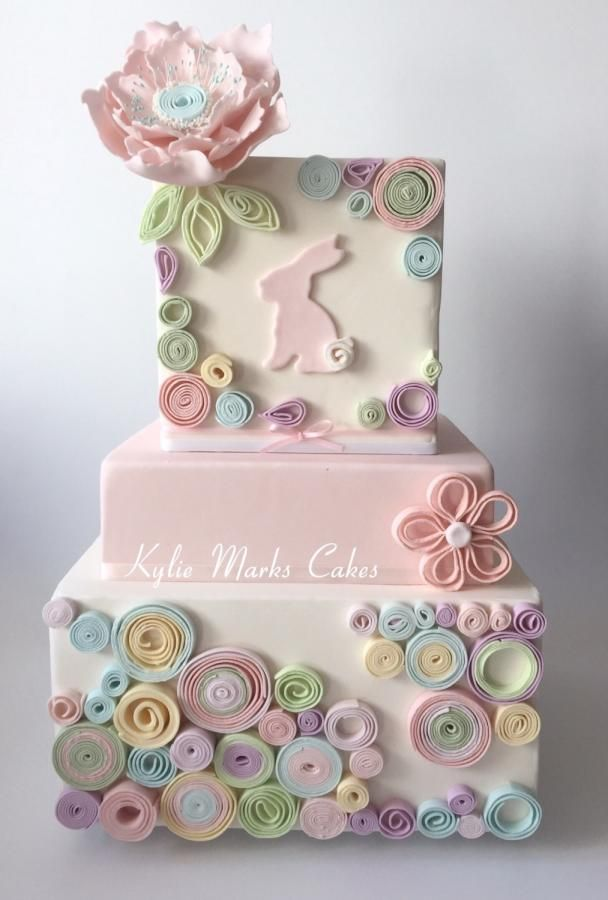 Quilled Easter Cake by Kylie Marks - For all your cake decorating supplies, please visit craftcompany.co.uk