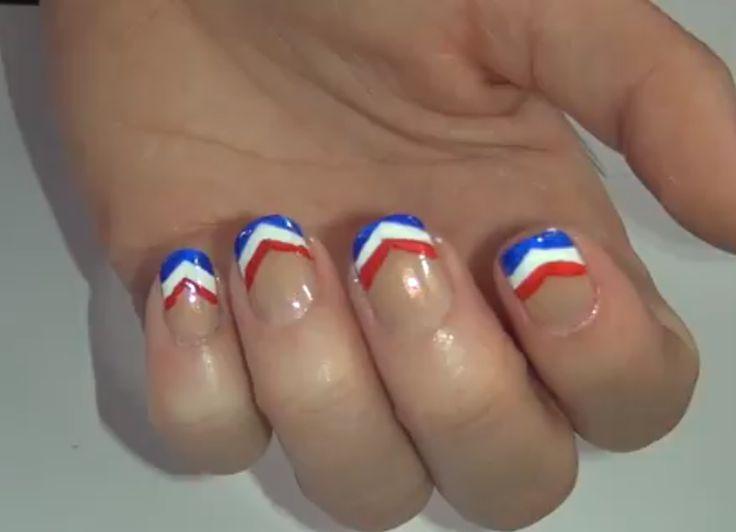 Memorial Day nail art tutorial for beginning nail artists - National Hair & Nails | Examiner.com