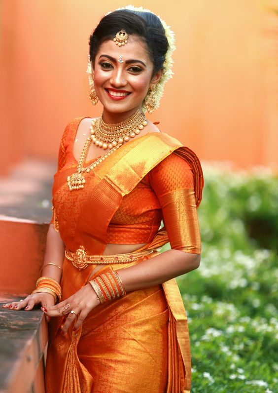 Beautiful South Indian bride. #WeddingsThatWow #IndianWeddings