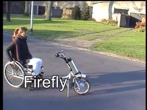 Firefly hand bike- add to a wheelchair and have electric mobility. TY to @drkanne for sharing!