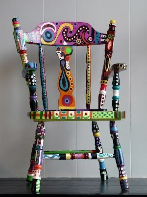 painted chair by Jaspercat
