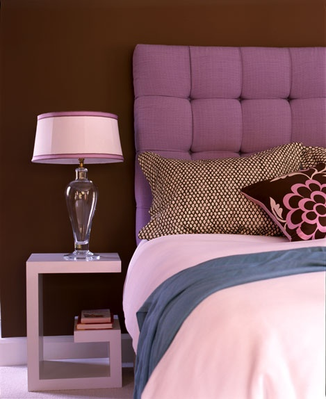 Liking cushion headboards, but probably not purple.