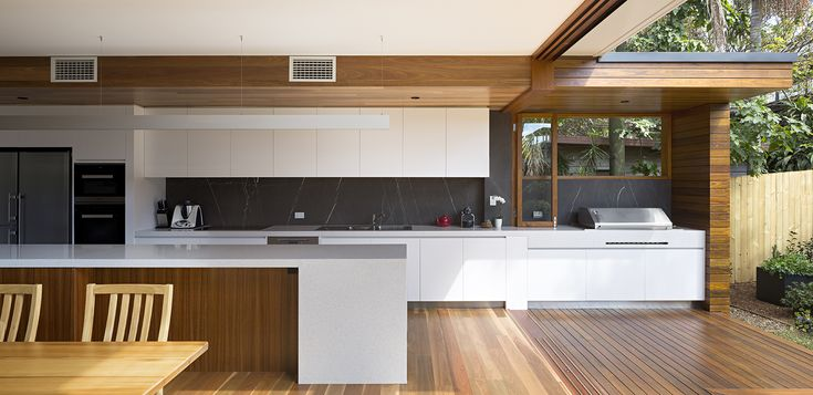 Kitchen and outdoor kitchen, by Tim Stewart Architects
