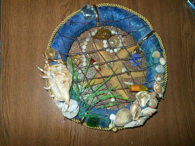 """Воспоминание о море"". Веночек с морским декором."