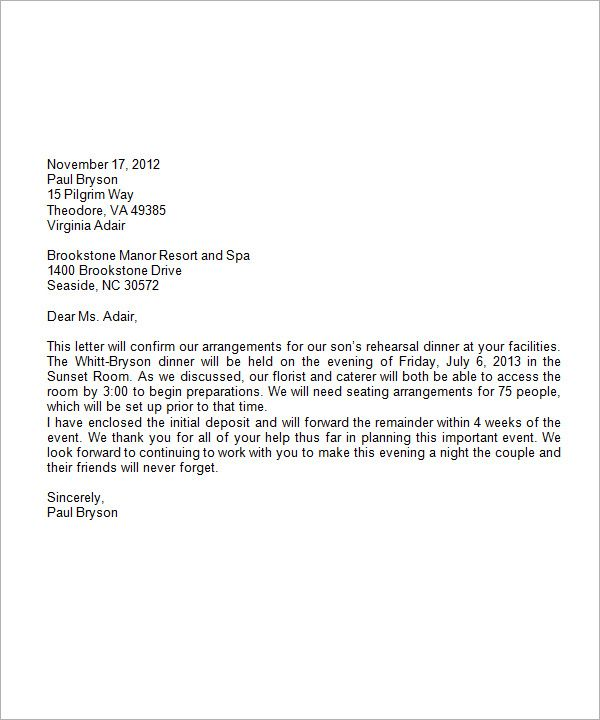 formal business letter format with letterhead sample
