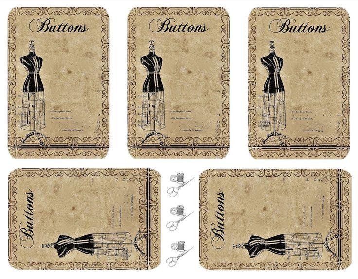 Vintage Inspired: button card freebie.