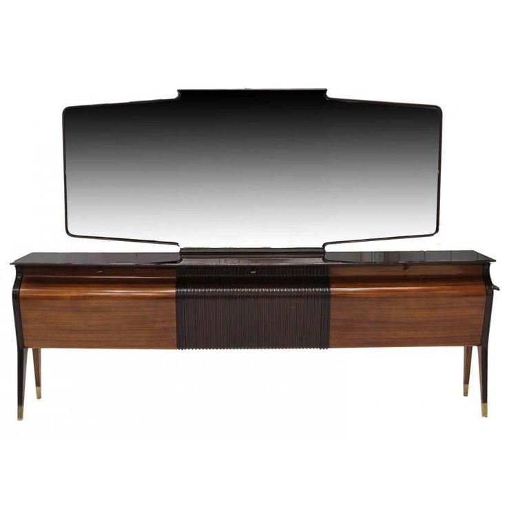 A Large Italian Sideboard Credenza with Mirror Osvaldo Borsani 1