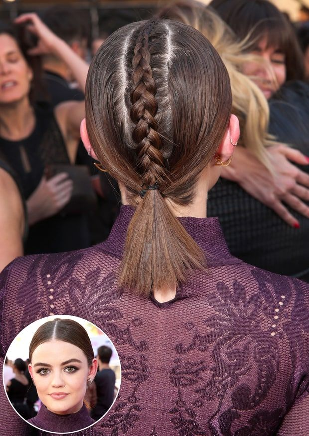Lucy Hale wowed with a plaited mohawk braid — see even more summer braid styles here!