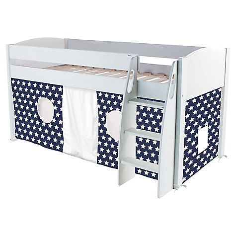 Buy Stompa Uno S Plus Mid-Sleeper Bed with Star Print Tent Online at johnlewis.com