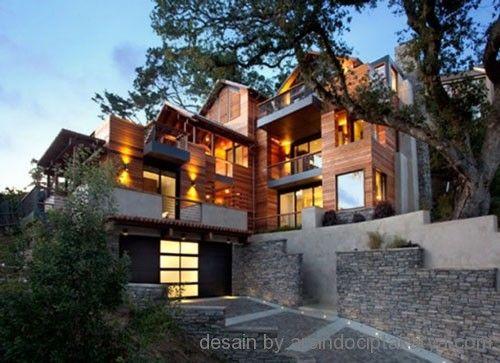 Desain Rumah Kayu Minimalis Klasik dan Sederhana - Membangun rumah dapat dibangun dengan bahan material apa saja, salah satunya membangun r...