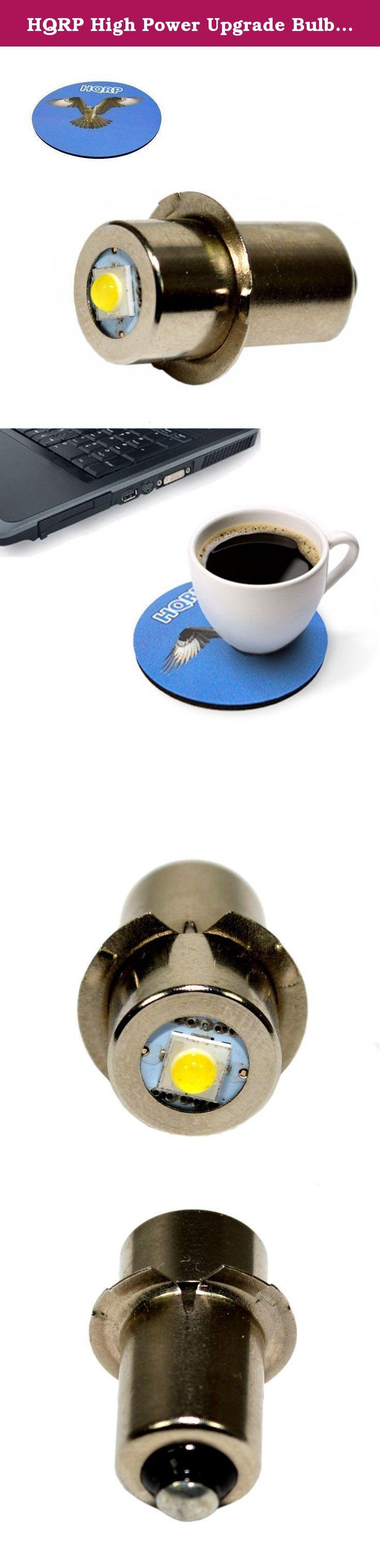 HQRP High Power Upgrade Bulb 3W LED 100LM for 12 14.4 18 Volt Hitachi Ryobi Skil Makita Craftsman Bosch Porter Cable Dewalt Milwaukee Ridgid Flashlight + HQRP Coaster. Compatible with: 12 14.4 18 Volt Hitachi Ryobi Skil Makita Craftsman Bosch Porter Cable Dewalt Milwaukee Ridgid Flashlight.