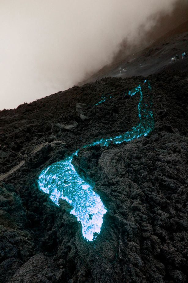 Best Lava Images On Pinterest Amazing Photos An Eye And Cities - Incredible neon blue lava flames erupt volcano