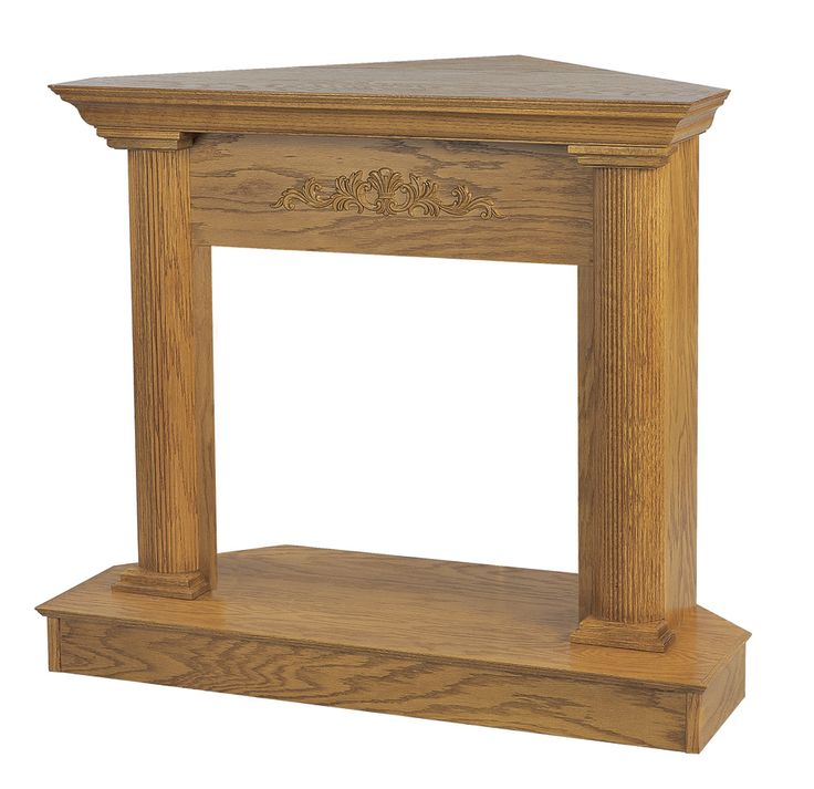 Vantage Hearth 26 Inch Georgian Medium Oak Wooden Corner Mantel