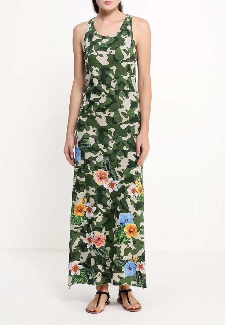 Летнее платье-майка длины макси с камуфляжным принтом и цветами на подоле. 100% хлопок. Ссылка http://fas.st/YDJyhg