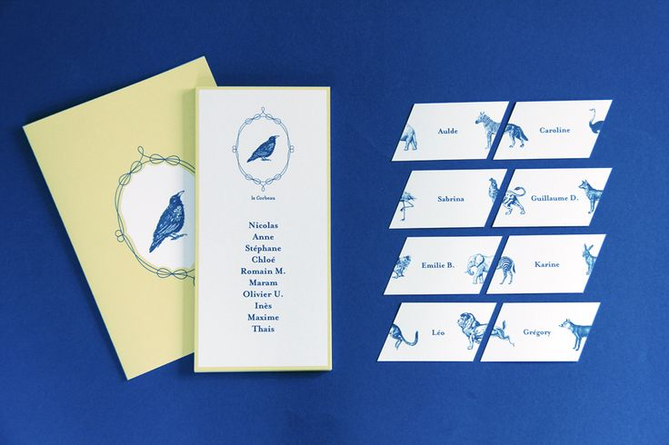 Welcome to the Jungle ! | stationery for a wedding inspired by La Fontaine's fables | designed by Allons-y Alonso