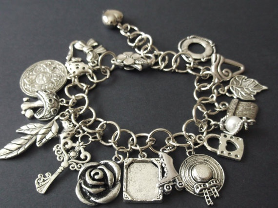 Large Charm Bracelet by RaybelleJewellery on Etsy, $31.00