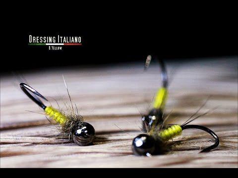 Dressing ninfa B.YELLOW by Dressing Italiano - Fly Tying Italy - YouTube