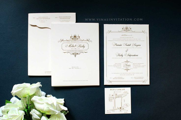 Vinas invitation. simple white. simple elegant gold. simple gold. indonesian wedding. any question pls visit us at website www.vinasinvitation.com. courtesy of Mitha & Rizky