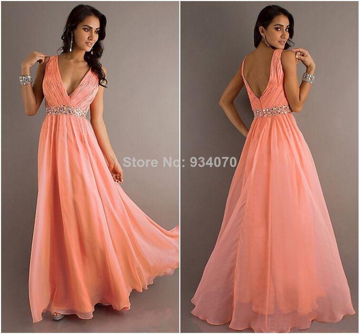 deep v formal gown