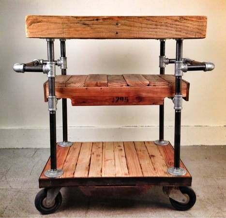 butcher block or make a bar cart or appliance caddy... So many awesome things!!