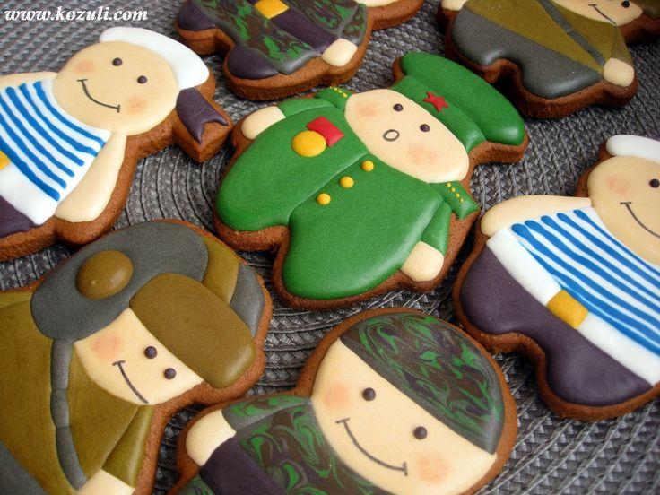 Расписные пряники. 23 февраля. Солдатики пряничные. Cookies decorated.