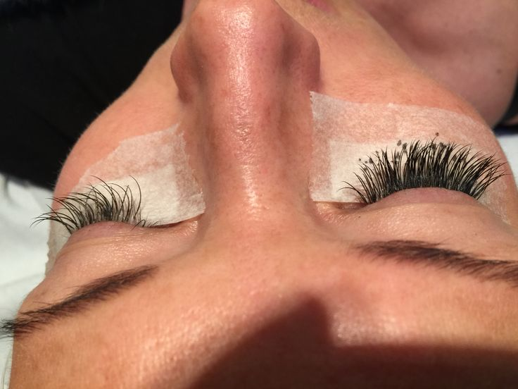 Lashes, before and after