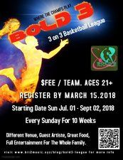 #B3BSL Bold 3 Summer Basketball League Semi-Launch Games Standalone Tournament Roland Johnny Dollar Burrell Trophy 2017 Registration & More Info Here  http://www.bold3.info