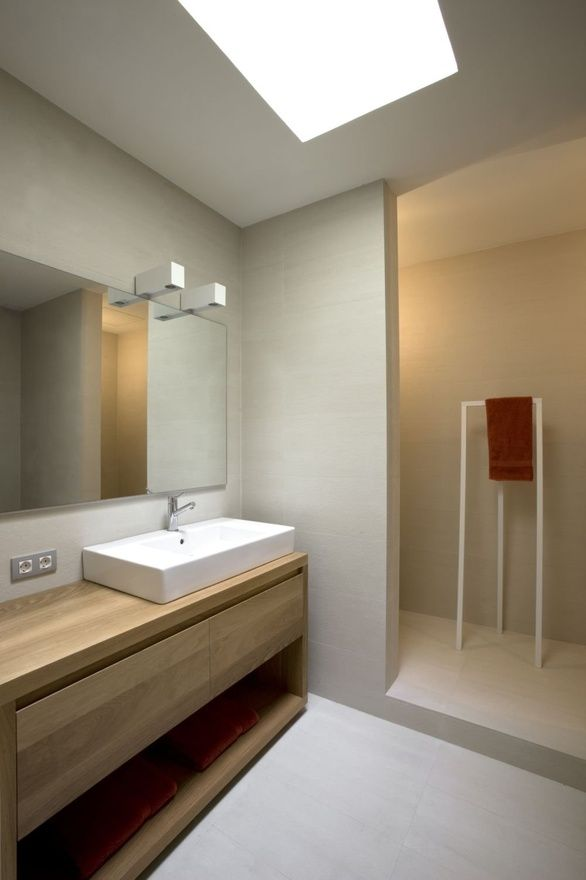 Bathroom: Love the clean lines in this one!