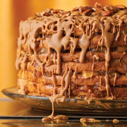 Caramel Apple Stack Cake.  This is my Thanksgiving dessert...pieced together from several different recipes!