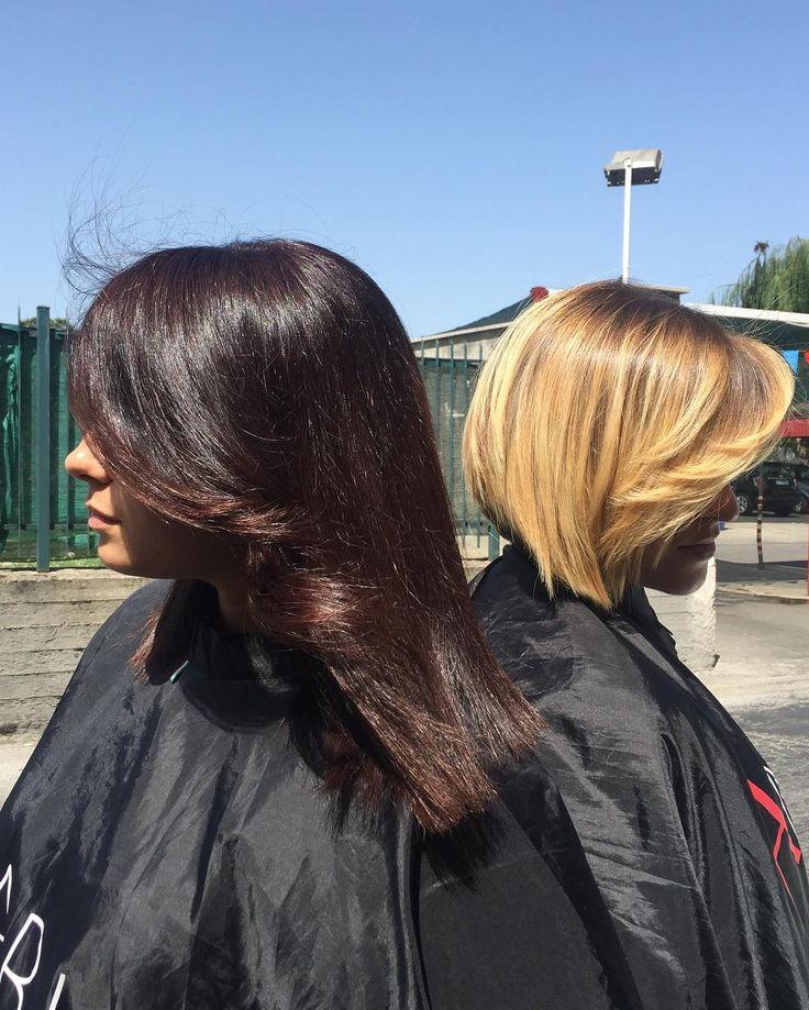 Marrone caldo e biondo oro-perlato 😍  E tu che sfumatura preferisci ??? AMABILE HAIR ❤️via Emilia 22 Marano di Napoli  #vomero #stylist #hairstyle #shatush #sun #marano #capelli #roma #milano #venezia #torino #campania #mugnano #amabile #amabilehair #sfumature #coloredhair #parrucchiere #womans #sunshine #napoli