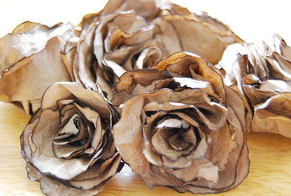 Beautiful Brown Bag Roses - CreativeMeInspiredYou.com                                                                                                                                                                                 More