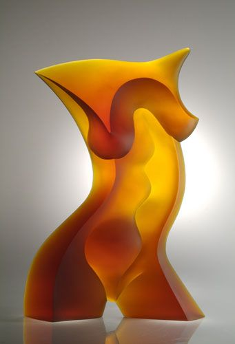 """TORSO VI"" Latchezar Boyadjiev Cast glass. Gorgeous piece of art!"