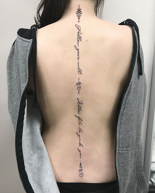 e0cf16347 30 Of The Best Spine Tattoo Ideas Ever | ~Ink~ | Unalome tattoo ...