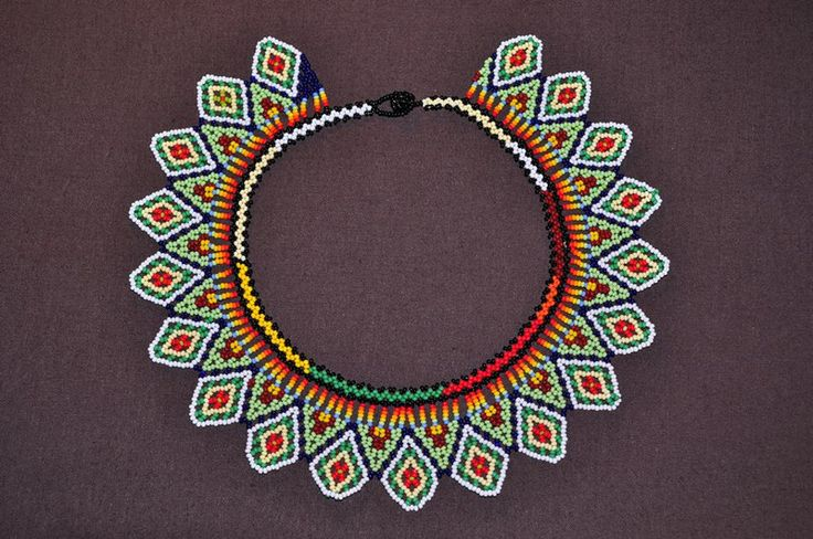 Choker boho style from Colombia – a unique product by luloplanet on DaWanda #embera #jewelry #naszyjnik