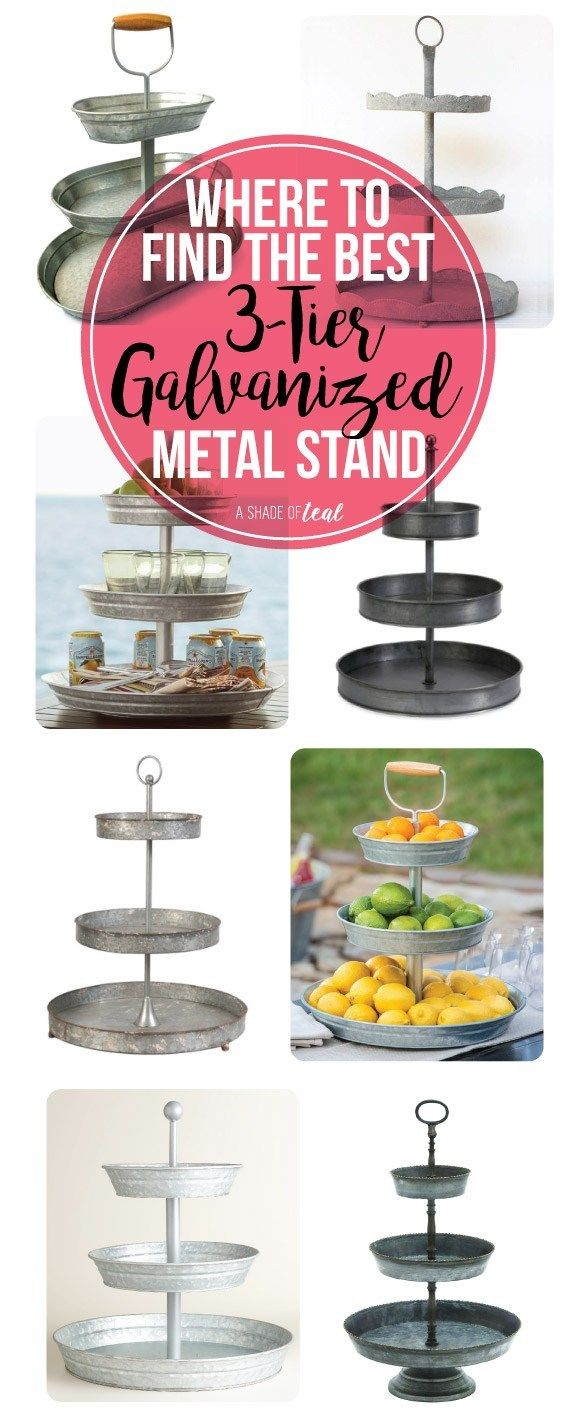 Where To Find The Best 3 Tier Galvanized Stand Tiered Tray Decor Metal Tray Decor Tiered