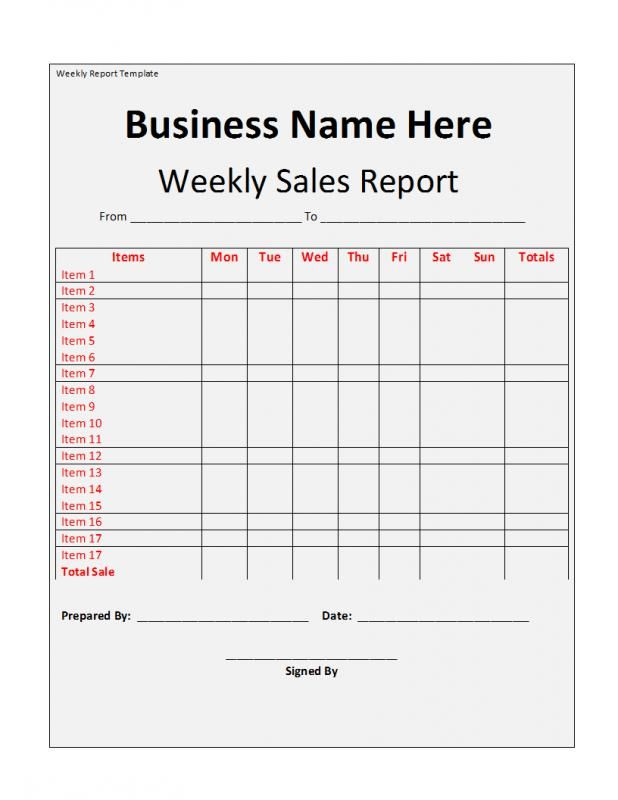 weekly report template Supervision Pinterest Report template