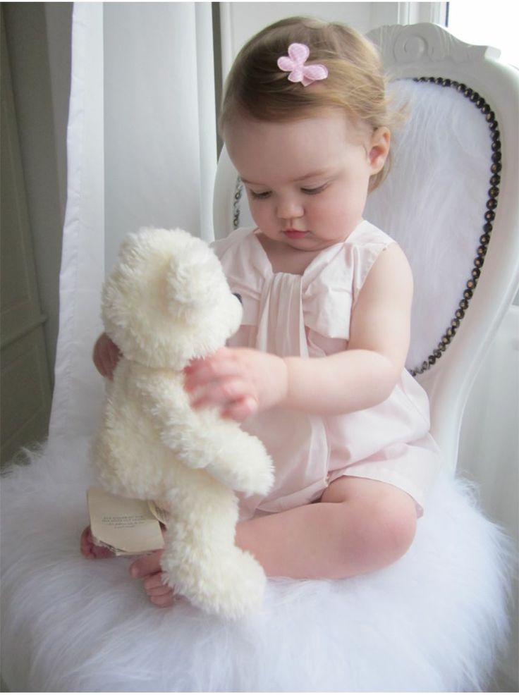 'Chloé Kids' Baby girl's Pale Pink Bow-Front Dress
