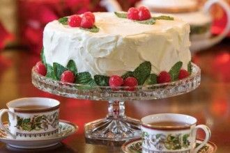 Almond Cake with Cherry Filling