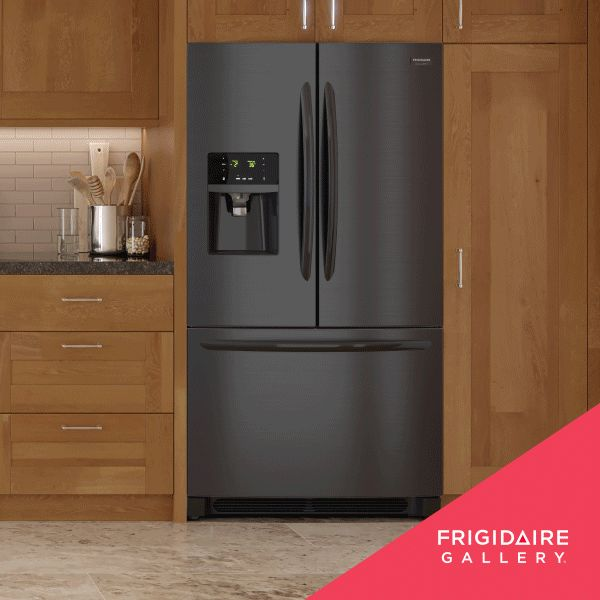 Style that's at home in any home: The Frigidaire Gallery Smudge-Proof™ Black Stainless Steel Collection.