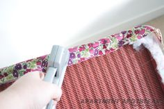 Lloyd Loom upholstery tutorial