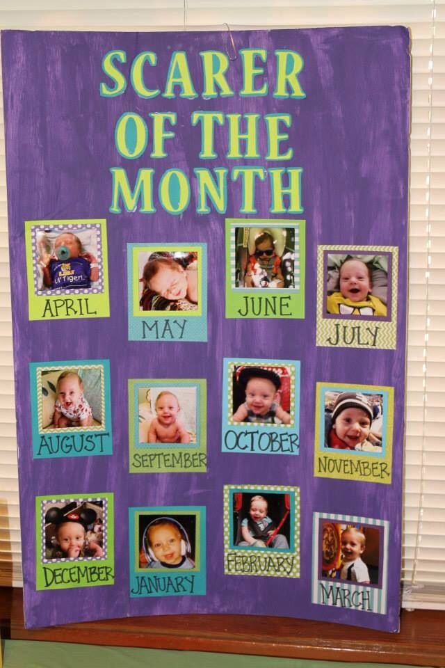First year photos employee or scarer of the month monsters inc first birthday decoration