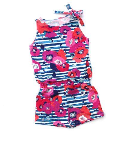 Navy Floral Shorties Jump Suit, Jump Suit, Romper, One Piece, Kids Romper, Baby Jump Suit, Kids Jump Suit, Kids Apparel, Hip & Modern Kids Apparel