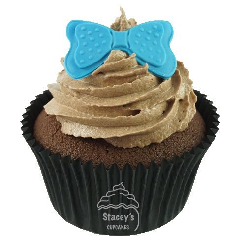 4D Tall, Dark & Hazelnut Cupcake by Stacey's Cupcakes www.staceyscupcakes.com.au