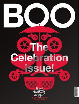 "(Pin 30)  Bugaboo's most intimate connection to date, ""Boo"" the magazine was created to offer its customers an in depth look at the principals that helped guide the company to become the most well known baby stroller brand in the industry."