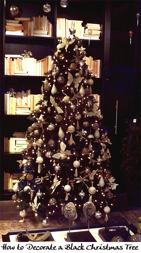 How to Decorate a Black Christmas Tree | Christmas | Pinterest ...