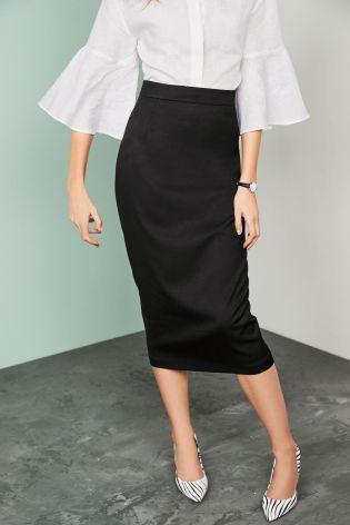 Черный Строгая юбка-карандаш