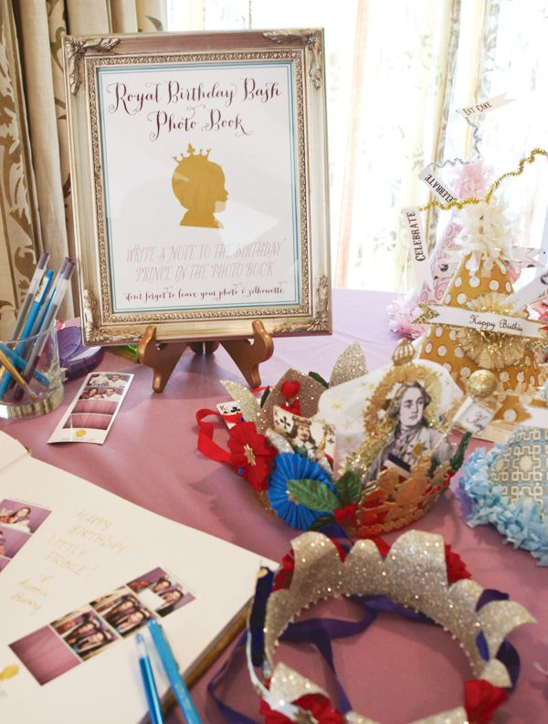 Christmas 1st Birthday Party Ideas Part - 32: Royal First Birthday Bash {Little Prince Theme. First Birthday  PartiesBirthday ...