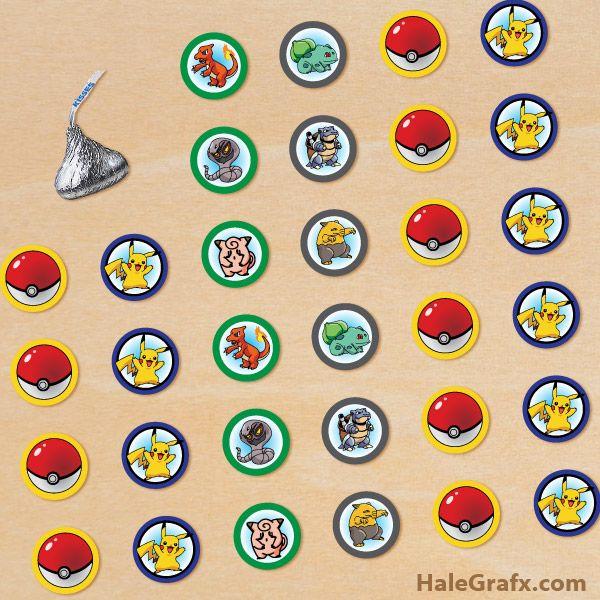 pokemon hershey stickers free printable pokmon hersheys kisses stickers