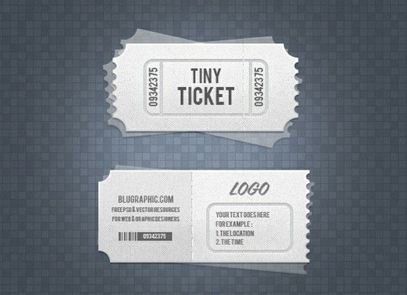 XOO Plate :: 2 Layered Event & Admission Tickets Set PSD - 2 Tiny stacked event or admission tickets with transparent lower layers. PSD set.