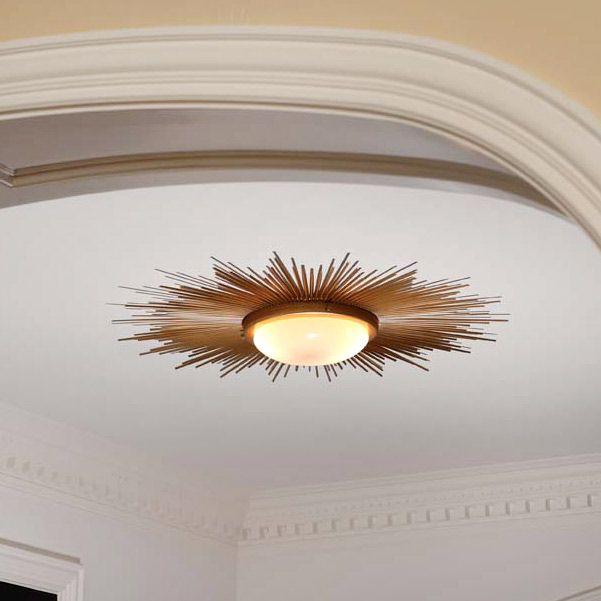 foyer - Global Views Sunburst Light Gold Fixture GV991411